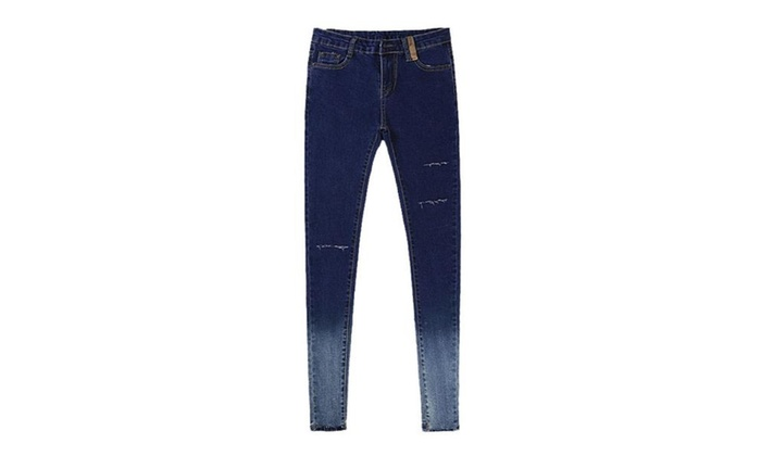 Women's Distressed Skinny Jeans