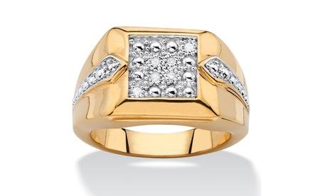 Men's Diamond Accent Two-Tone Square Cluster Ring 92d7d7e4-c4fc-4362-832f-da5730bc640a