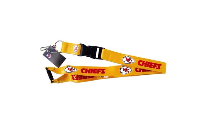 Kansas City Chiefs NFL Clip Lanyard Keychain Id Ticket Holder – Yellow