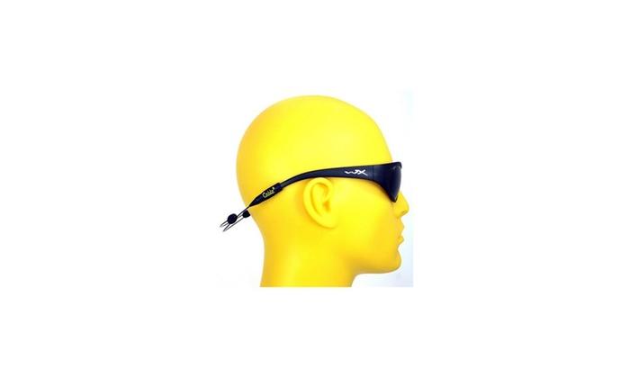 Cablz Zipz Adjustable Sunglasses Holder Black 14in