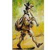 Wandering Troubadour with Pipe - Music Metal Wall Art