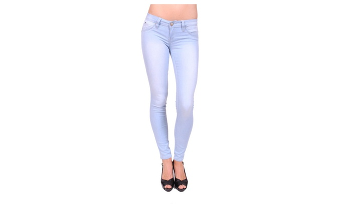 YMI Women Push Up Skinny Jeans with Fake Front PocketsP617196Q36
