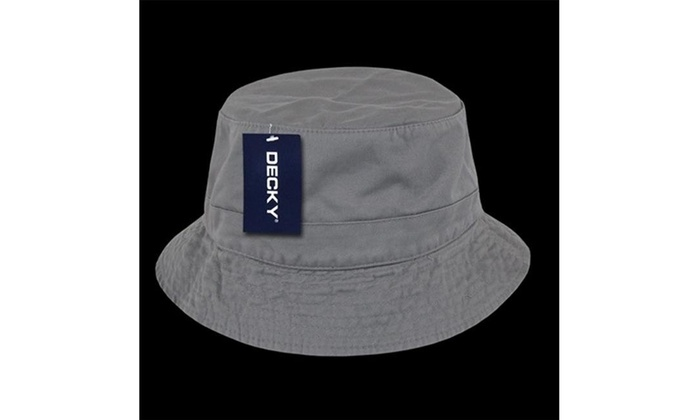 Decky 961-PL-GRY-07 Polo Bucket Hat Grey - Large   Extra Large Grey Label  cotton original.jpg 897b6b007d7