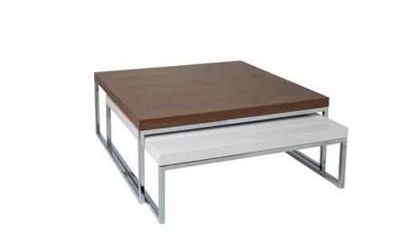 Tweens Coffee Table, Walnut Veneer and White Lacquer 9ac345c6-9d3c-4002-98e4-54e737a6e08b