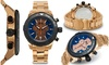 Groupon Goods: Brandt And Hoffman Chronograph Butler Mens Watch Rose Gold/Navy