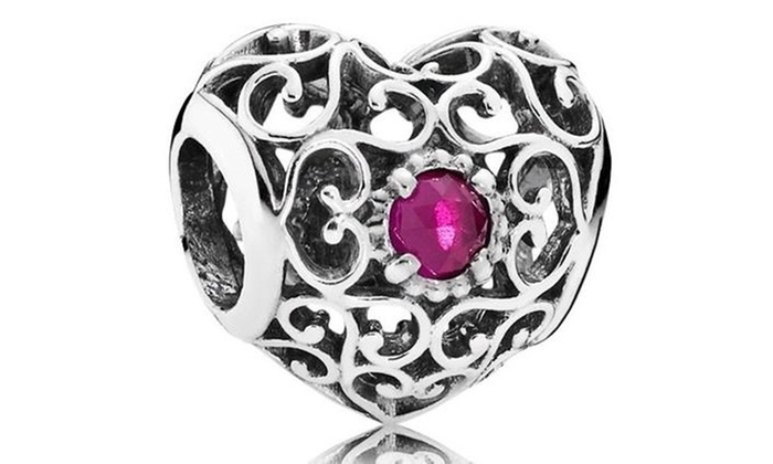 20a9e8135 Pandora July Signature Heart Charm - 791784SRU   Groupon