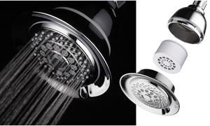 """HotelSpa 5"""" Filtered 6-Setting Shower Head with 3-Stage Filter"""