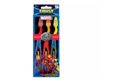 Firefly Marvel Soft Toothbrush, 3 Count a36655d5-23b1-4aa5-af38-5e1b16151930