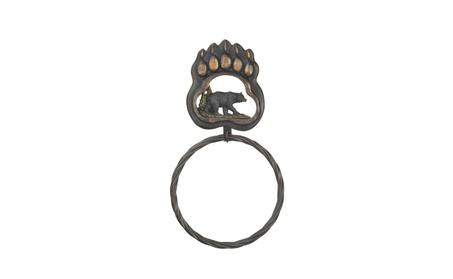 Koehler Home Decor Black Bear Paw Towel Ring 65d7d724-412f-4ab5-bc84-788e1740a23e
