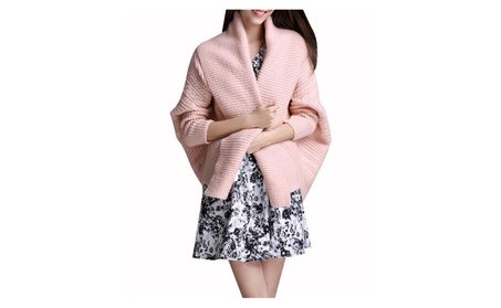 Womens Fashion Batwing Sleeve Pullover Long Sleeve Sweater 1a7b602d-540f-4810-9cbe-4a7eac523735