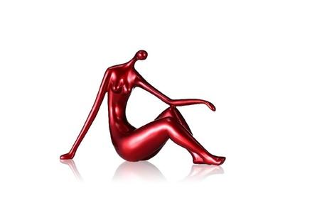 Red Reclining Woman Figurine Resin Figurine Home Decor 9ba2cb42-fa21-48b6-8d21-60ba48b537d6