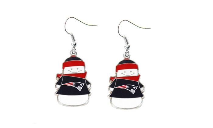 NFL Snowman Dangle Earrings