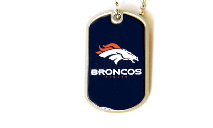 Denver Broncos Dog Tag Necklac...