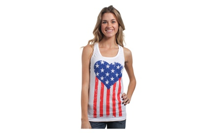American Heart Flag Tank Top