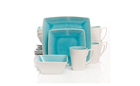 Gibson Elite Urban Luxe 16-Piece Dinnerware Set, Turquoise photo