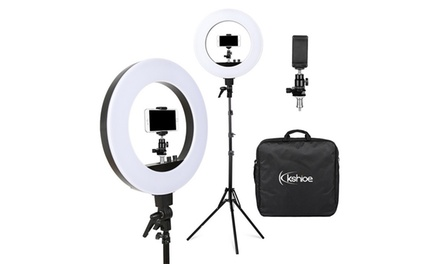 """18"""" 5500K Dimmable Lighting Camera Photo Video Ring Light Ring Light / 2M Stand"""