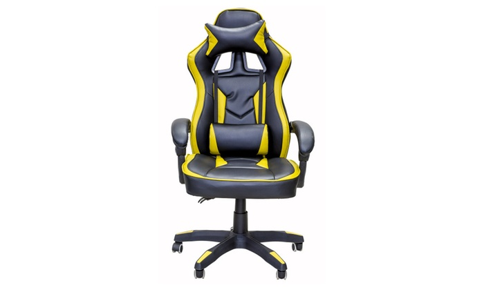 ViscoLogic SALOON Gaming Racing Style Office Chair (Black Gold) ...  sc 1 st  Groupon & ViscoLogic SALOON Gaming Racing Style Office Chair (Black Gold ...