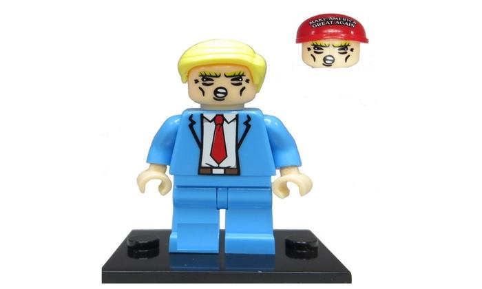 Compatibl Donald Trump Mini Fig Maga hat and Hair