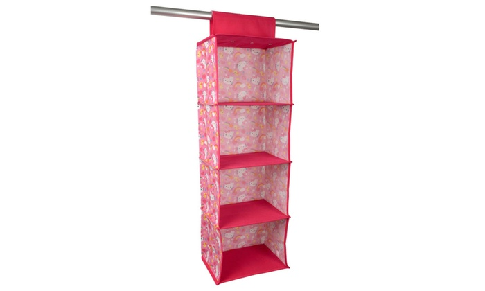Hello Kitty Closet Rod Hanging Shelf Organizer