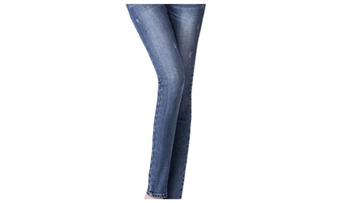 Women's Solid Commuting Equipment Casual Mid Rise Jeans