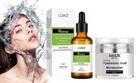 Anti-wrinkle Face Moisturizing Kit with Hyaluronic Acid Cream & Retinol Serum