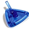 "11"" Triangular Transparent Blue Weighted Swimming Pool Vacuum Head"