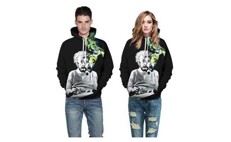 Smokers Digital Printing Couple Hooded Sweater 3bd6e6af-90df-4ec9-8a04-0420fe861e42