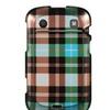 Insten Checker Hard Rubber Coated Case For BlackBerry Bold Touch 9900/9930