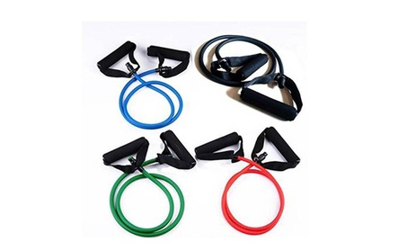 Rubber Latex Resistance Band Fitness Stretch Training Yoga