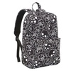 Black White Skull & Roses Fashion School Backpack by Loungefly