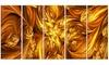 Molten Gold Exchange Metal Wall Art 60x28 5 Panels