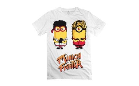 Minion Fighter White T-shirt 7f620d4d-70a5-4549-a8e5-707c0a03da6f