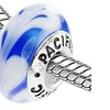 Sterling Silver 'Chillin' Out' Murano-style Glass Bead
