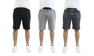 Men's Tech Fleece Shorts with Zipper Pockets (2-Pack)