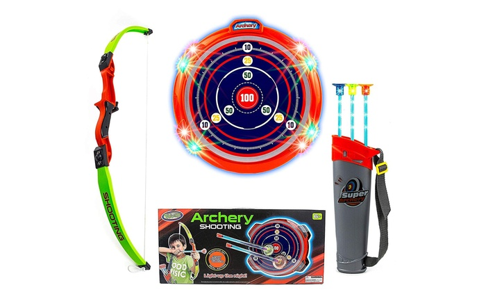 GIFT DEPOT® Archery Bow And Arrow Toy Set With Target Board Sports Dart Playset