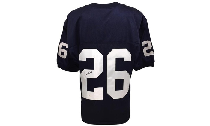 newest 78e76 400b9 Penn State Legend Saquon Barkley Autographed Custom Football Jersey