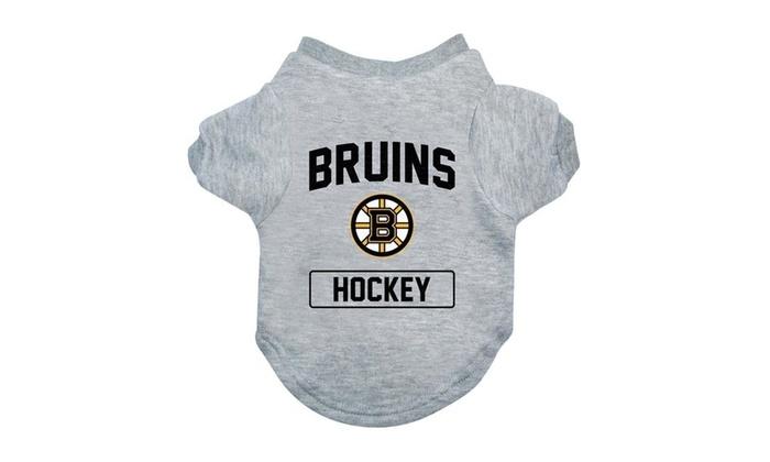 premium selection 40a1e 23e2c Little Earth 520150-BRUN-XS NFL Boston Bruins Gray Dog Tee Shirt - Extra  Small