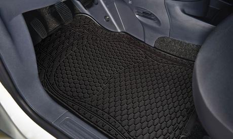 1 o 2 sets de 4 alfombras para auto compuesto por 2 alfombras delanteras y 2 alfombras traseras