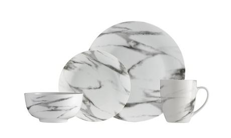 Marble Design Porcelain Dinnerware Set (16-Piece)
