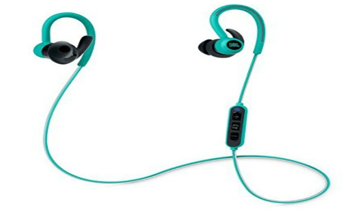 a6c0cea7fe3 JBL Reflect Contour Bluetooth Wireless Sports Headphones (Teal) | Groupon