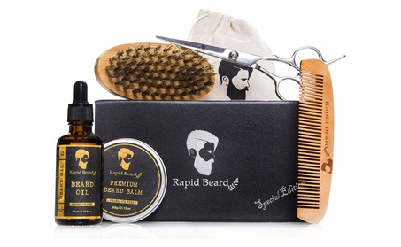 Beard Grooming & Trimming Kit for Men Care, Beard Brush, Comb & Oil b5f32494-a4ce-4ccf-bf90-7a155d133453