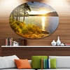 Beautiful View of Sunset over Lake' Disc Landscape Metal Circle Wall Art