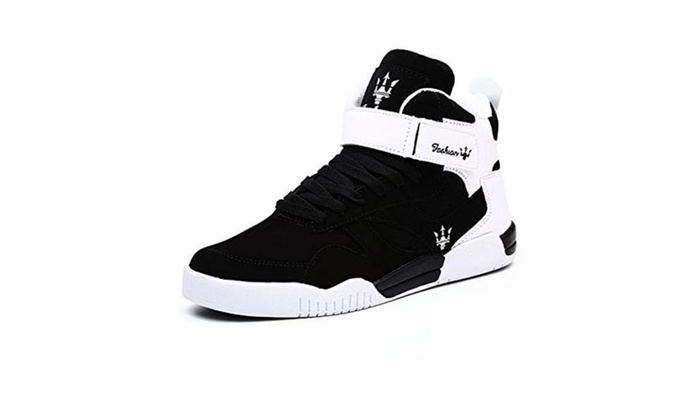 Men's Sneakers High Top Breathable Athletic Ankle Sports Shoes  - Black / 6 D(M) US