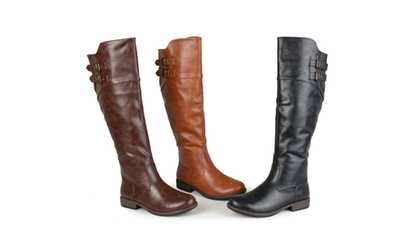 5d6f179b1468 Shop Groupon Journee Collection Womens Extra Wide Calf Riding Boot