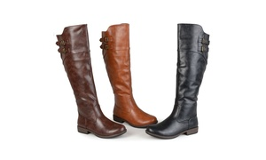0b507158d4e Journee Collection Womens Extra Wide Calf Riding Boot