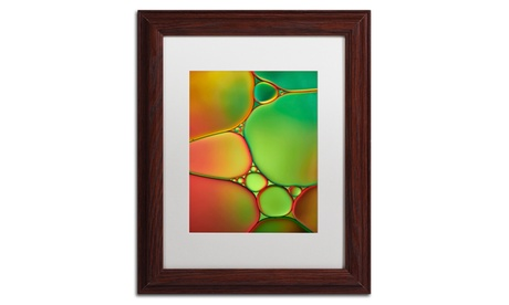 Cora Niele 'Stained Glass II' Matted Wood Framed Art f5c33eaa-bc94-4bab-bc19-c995a03ffb02