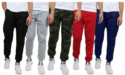 5-Pack Galaxy By Harvic Men's Fleece Jogger Sweatpants S-2XL Was: $172.50 Now: $44.99.