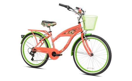 """24"""" Girls Margaritaville Island Life Multi Speed Bicycle, Coral/Green be4eb6cf-9a6e-4c88-84c9-4f9ecae675d1"""