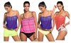 Hellochic: Womens Sexy Bandeau Blouson Tankini with Breifs 2pcs Swimsuit Bikini