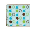 Aquatopia Memory Foam Bath Rug and Lid Cover Set, Blue